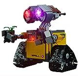 QZPM (Robot Walli) Modelo De Construcción De Bloques Conjunto De Luces Kit De Luz LED Compatible con Lego 21303 (NO Incluido En El Modelo)