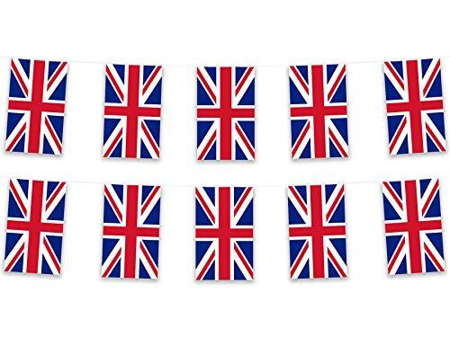 NX Flag Guirnalda de banderines (5 m), diseño de bandera británica
