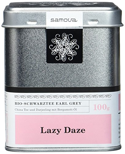 Samova Lazy Daze - Bio-Schwarztee Earl Grey 100g, 1er Pack (1 x 100 g)