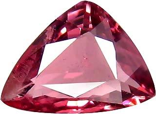 0.74 ct AAA+ Grade Trillion Shape (6 x 5 mm) Unheated Pink Malaya Garnet Natural Loose Gemstone