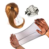 50PCS Hair Nets Invisible Elastic Edge Mesh Bun Hair Nets for Ballet Dance 20' Black