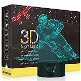 Hockey sur glace 3D Illusion Lampes, LED Veilleuse 7 Couleurs Tactile Interrupteur USB Lampe, Lumière pour Décoration de maison Enfants D'anniversaire De Noël Cadeau