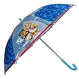 Paw Patrol Kinder Regenschirm Stockschirm, ∅ 72 cm, blau-transparent