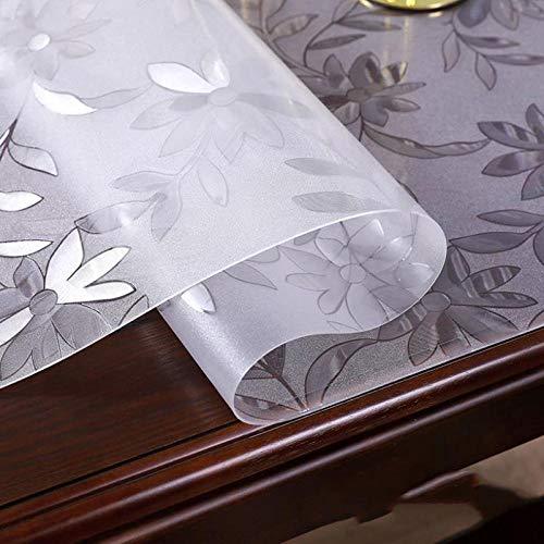 Tischdecke Wasserabweisend,PVC-Weichglas, wasserdichte und verbrühungsfreie Tischdecke-Cosmos-Filet 2.0mm_60 * 90,Baumwolle Tischdecke