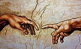 Set de bordado tapiz'Man's Hand' Juego de bordado de punto de cruz 60x30cm.Incluye hilo de algodón multicapa cod.616