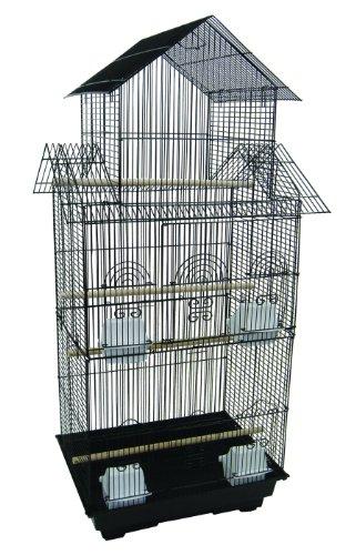 YML 45,7 cm par 35,6 cm de Hauteur Pagode Top Bird Cage, Noir