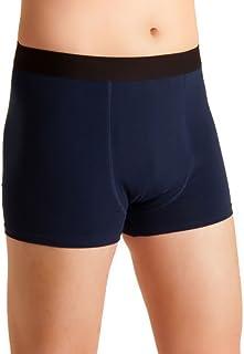 Herren Inkontinenz-Shorts, waschbare Inkontinenz-Unterhose Männer, blau-schwarz, Inkontinenzhose mit doppelter Saugeinlage, für Tagesinkontinenz geeignet, ActivePro Men Super L