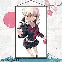 Xenia Judd タペストリー Fate/Grand Order フェイト グランド オーダー FGO アルトリア・オルタ 水着 Saber Alter セイバー ポスター 掛ける絵 約60cmX90cm