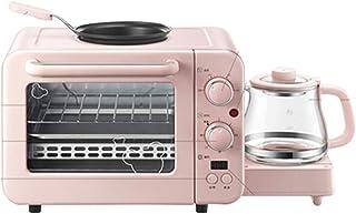 UZIQAQ Mini Horno EléCtrico 8l con Tubos De CalefaccióN Dobles, MúLtiples Funciones De CoccióN Y Parrilla, Control De Temperatura Ajustable, Temporizador - 1400w