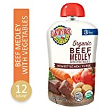 Earth's Best Earth's Best Organic Stage 3 Baby Food, Homestyle Beef Medley with Vegetables, 4.5 Ounce Pouch...