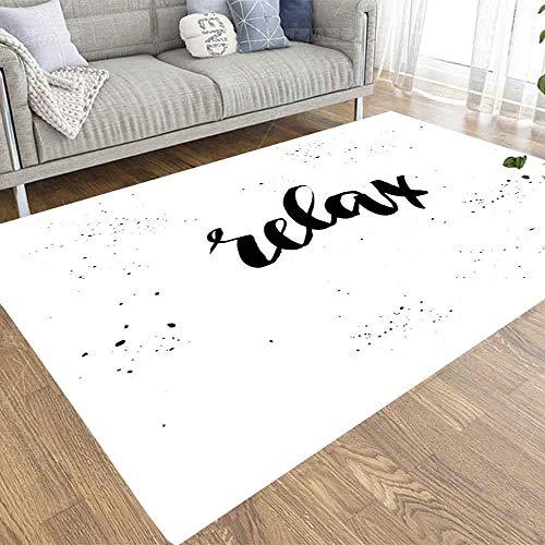 JKGHGRLG 2 x 3 alfombras de área Vector Relax, tarjetas de felicitación, carteles, más blogs, alfombra adecuada para niños y mascotas, para decoración de interiores
