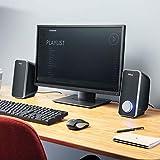 Trust Arys 2.0 USB Lautsprecher Set (28 Watt, 3,5mm Klinke, USB-Stromversorgung, für PC, Laptop, Tablet und Smartphone) schwarz - 5
