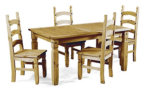 Mercers Furniture Corona Extending Table and 4 Chairs - Pine, Small