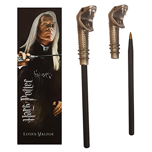 The Noble Collection Lucius Malfoy Zauberstab Stift und Lesezeichen