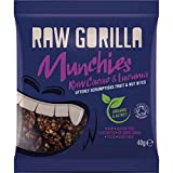Raw Gorilla Raw Cacao and Lucuma Munchies 40 g (Pack of 10)