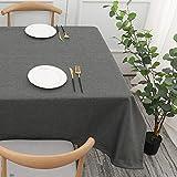 Mantel de Lino y algodón de Color sólido para el hogar, Mesa de Centro Rectangular para Sala de Estar, Mesa de Centro, Mesa de Comedor F 140x200cm