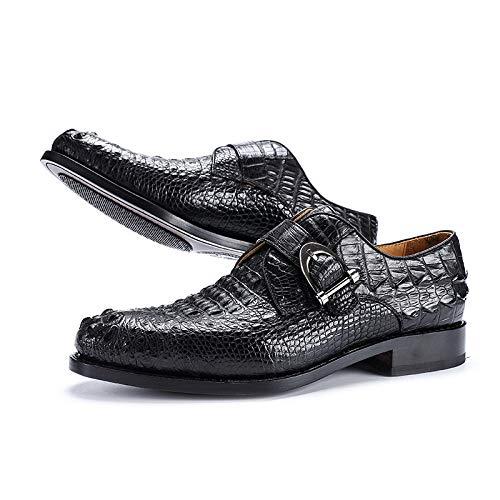XOCKYE Chaussures Business pour Hommes Chaussures en Cuir Costume en Cuir et Costume Noir en Peau de Vache@Noir_43