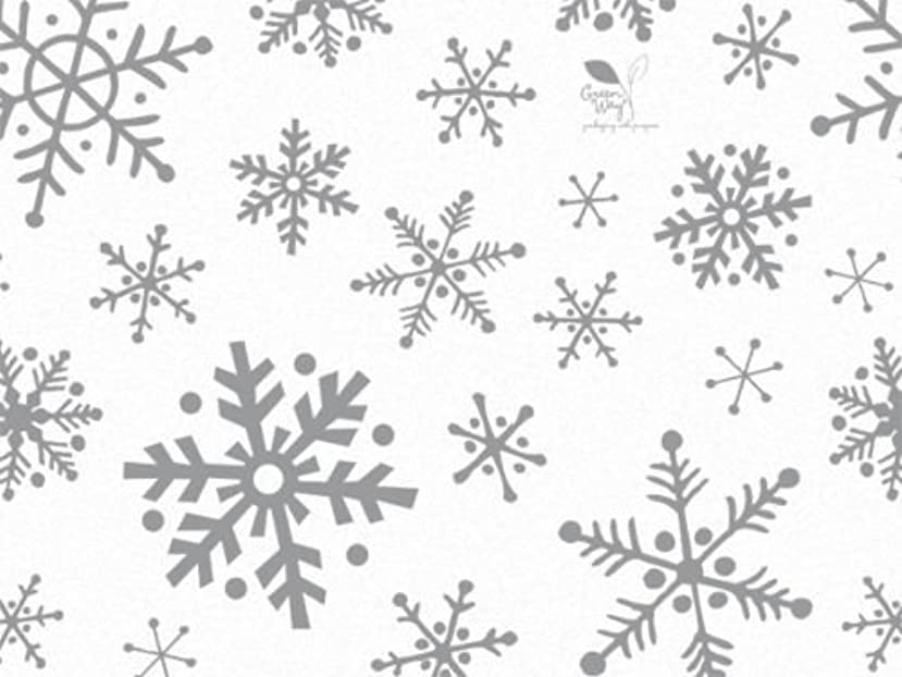 12 Large Sheets Tissue Paper Snowflake Flurry on White Tissue Paper Gift Wrapping Supplies Christmas Supply Gift 20
