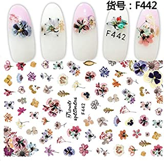JACA Water Transfer Watermark Self adhesive Manicure Tip Nail Art Stickers Decals for Women and Kids