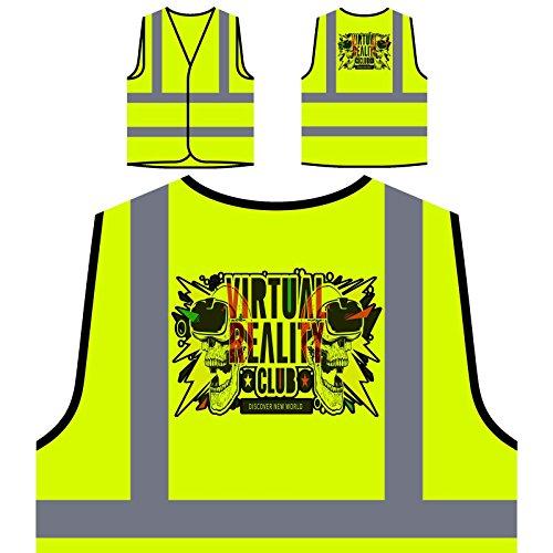 Realidad Virtual Mundo Chaqueta de seguridad amarillo personalizado de alta visibilidad u421v