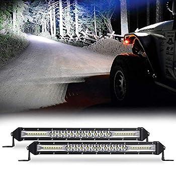 Sanman Led Light Bar 10 Inch Offroad Working Light Flood Spot Combo Driving Boat Light for SUV UTV ATV Trucks 2pcs