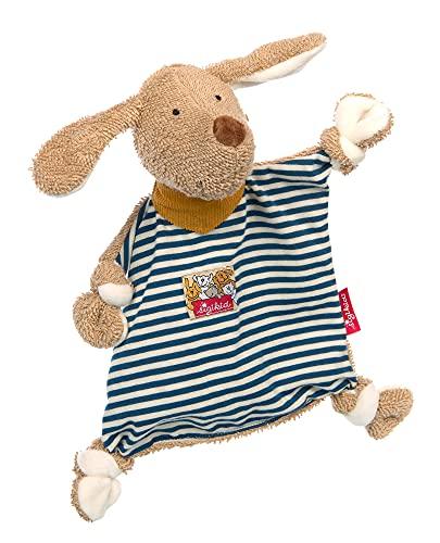 SIGIKID 39377 Schnuffeltuch Hund Kuscheltuch Mädchen und Jungen Babyspielzeug empfohlen ab Geburt beige/blau
