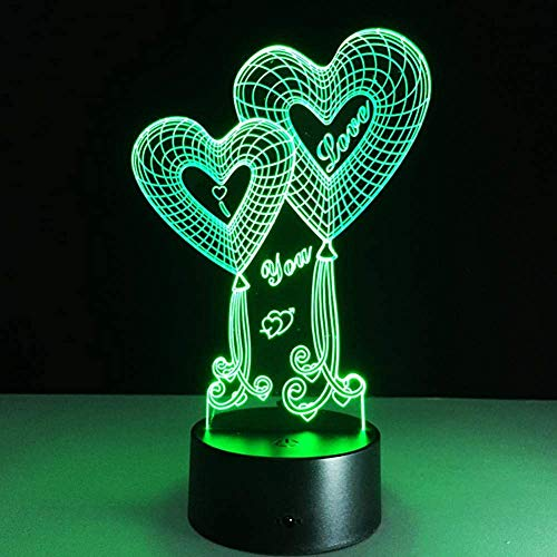 Lámpara de ilusión 3D Luz de noche LED