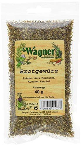Wagner Gewürze Brotgewürz, 5er Pack (5 x 40 g)