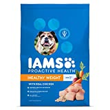 DISCONTINUED BY MANUFACTURER:IAMS Adult Healthy Weight Dry Dog Food with Real Chicken, 38.5 lb. Bag