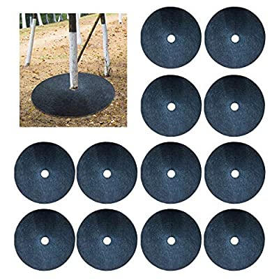 Amazon - 10% Off on 36 Pack Tree Ring Landscaping, 16.5in Recycled Anti Grass Tree Mulch Mat Ring