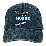 Dyfcnaiehrgrf Trust Me I'm A Nurse Unisex Camping Don t Care Hair Gorra de béisbol de algodón ajustable clásico sombrero negro
