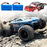 BeeBean RC Cars, High-Speed Waterproof Remote Control Car for Adults Kids,1:18 Scales 35+ kmh 4WD 2.4Ghz Off-Road Monster Truck Toy, All Terrain Electric Vehicle Boy Gift with 2 Batteries