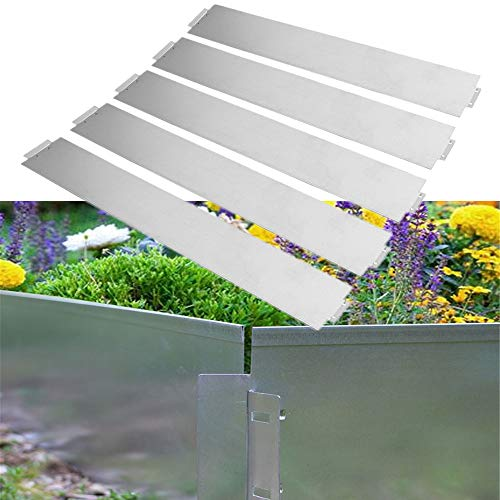 HENGMEI 10m Metall Rasenkante Flexibel Mähkante 100 x 18 cm Beetumrandung Beeteinfassung 10 Stück