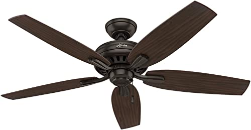 """2021 Hunter Newsome Indoor Ceiling online sale Fan with Pull lowest Chain Control, 52"""", Premier Bronze sale"""