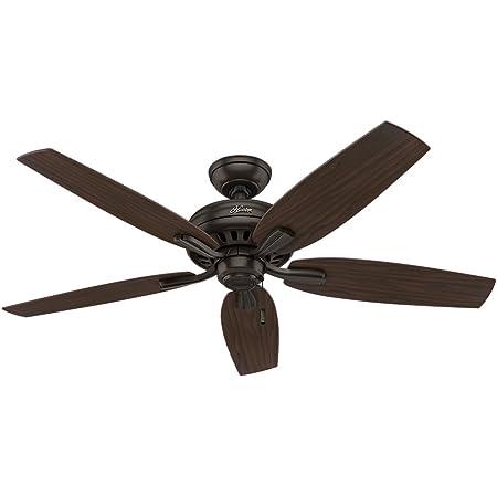 "Hunter Fan Company 53320 Newsome Ceiling Fan, 52""/Large, (Excludes lights), Premier Bronze finish"