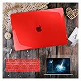 GYY para MacBook Air 11 12 13.3'Cubierta Clara De Cristal para MacBook Air Pro 13 15 16 Touch Barra/Touch ID A2289 A2338 M1 A2159 (Color : Crystal Red, Size : A2159 A1706 A1989)