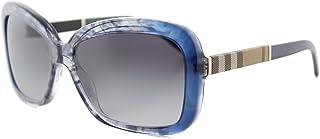 Burberry Women's 0BE4173 36138G 58 Sungl, Bluette Gradient Striped/Greygradient