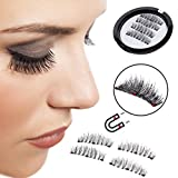 YCM 3 Magnetic False Eyelashes [ No Glue Needed ] Full Strip 3D Magnetic Eyelashes Hair Reusable Fake Eye Lashes (1 Pair 4 Pieces)