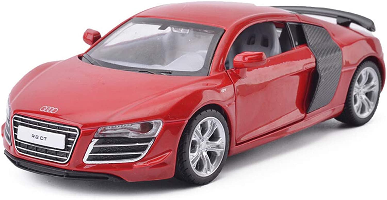 LBYMYB Car Model Car 1 32 Audi R8 GT Toy Ornaments Sports Car Collection Jewelry 14.5x6x4CM (color   Red)