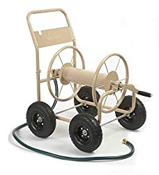 powerful Liberty Garden 870-M1-2 Industrial 4-wheel garden hose trolley, with reel, holds 300ft 5/8 inch hose …