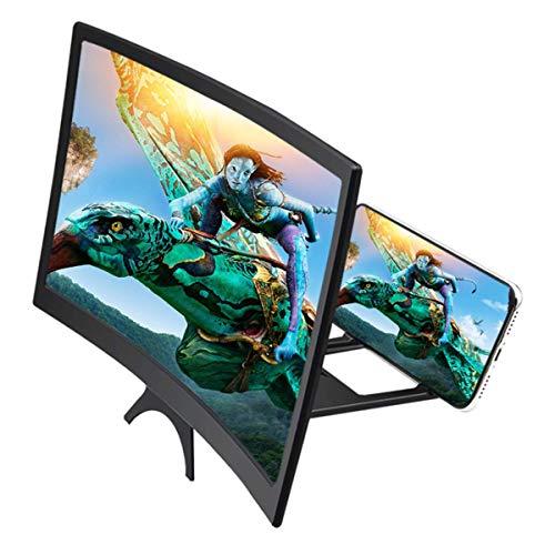 UniBaby7 12 Zoll 3D Bildschirm Vergrößerungsglas, Handy Lupe Gebogene Bildschirmlupe für Telefone, Projektorbildschirm für Filme, Videos, und Gaming–4-fache Vergrößerung (12 inch)