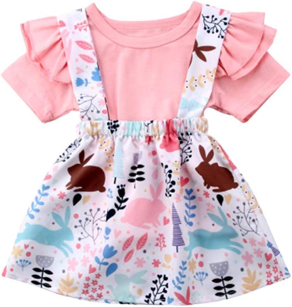 Max 60% OFF FENICAL Fashionable Spasm price Bunny Design Flower Easter Print Girls Skirt
