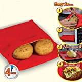 3 Pack of Microwave Potato Cooker Bag,Winhoo Microwave Baking Bag,Microwave Potato Cooker Pocket,Potato Pouch Cooker,Washable and Reusable Microwaveable Fabric Pouch