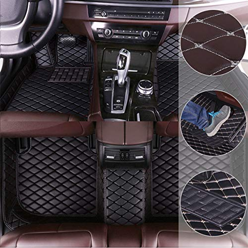 Car Floor Mats for Dodge Charger 2016-2019 Custom Pu Leather mat Full Surrounded Cargo Liner All Weather Protection Waterpoof Non-Slip Set Left Drive Black