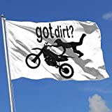 dfjdfjdjf Flagge/Fahne Got Dirt Bike Motocross Racing 3x5 Foot Flags Outdoor Flag 100% Single-Layer Translucent Polyester 3x5 Ft