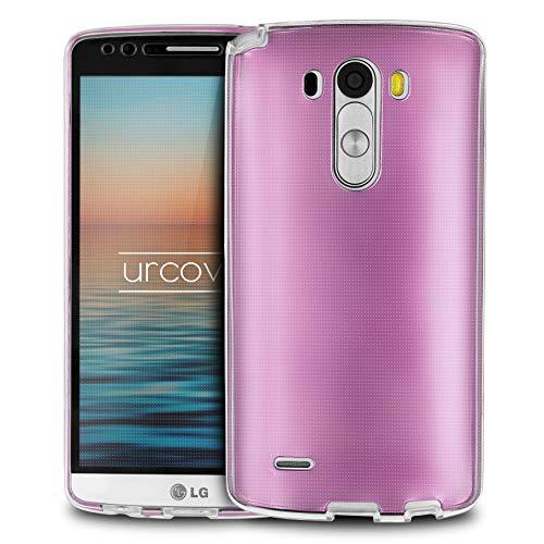 Urcover® LG G3   Funda Carcasa 360 Grados Ultra Slim Metálico   TPU en Rosa Pink   Case Cover Protección Completa Smartphone Móvil Accesorio