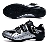 JRYⓇ Cycling Shoes for Men Women - Self-Locking Professional Racing Road Bike Shoes with SPD Cleats Perfect for Indoor Exercise Bikes, Commuting and Travel