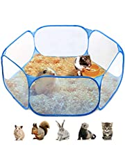 KASINI Small Animals Cage Tent, Portable Foldable Small Pet Playpen Pop Open Outdoor Indoor Exercise Fence Yard for Guinea Pig, Rabbits, Hamster, Chinchillas and Hedgehogs