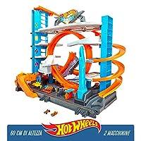 Hot Wheels - Garage delle Acrobazie Playset con Pista Connettibile per Macchinine, Loop a Doppia Corsia, Ascensore e Squalo per Stimolare Fantasia, Giocattolo per Bambini, dai 5 + Anni, FTB69 #1