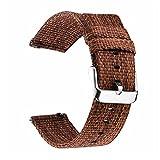 YANYAN Ring Store 22mm 20 mm Reloj de Reloj de Nylon Apto para Samsung Galaxy Gear S3 S2 Reloj Fit Fit para Galaxy Watch 46mm 42mm Banda Universal 18mm 24mm (Band Color : Brown, Band Width : 18mm)